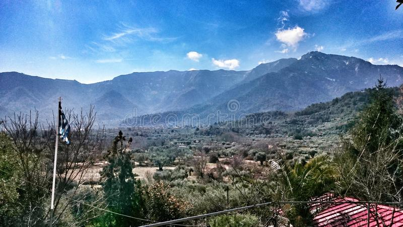 Montanhas gregas imagem de stock