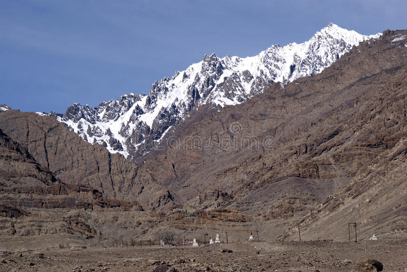 Montanhas, Ladakh, India foto de stock