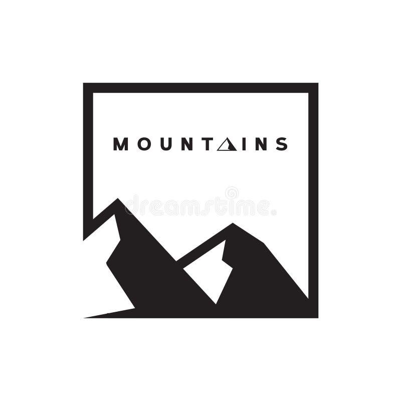 Montanhas Logo Vetora imagem de stock