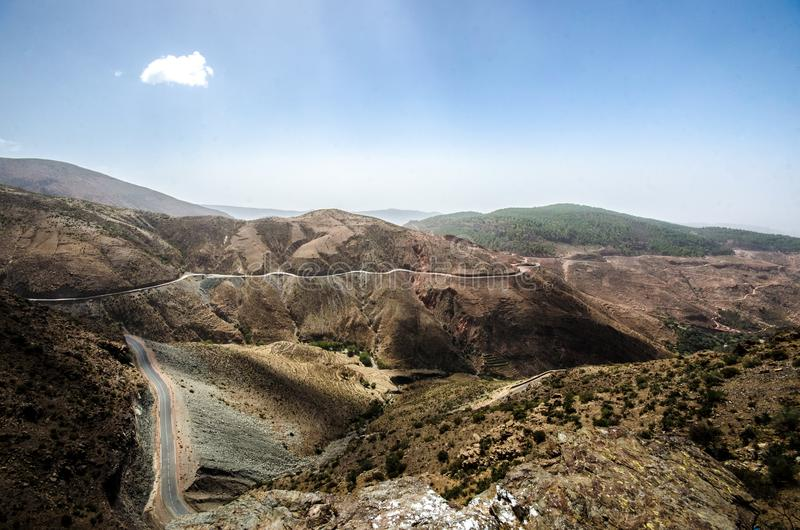 Montanhas Marrocos do atlas fotografia de stock