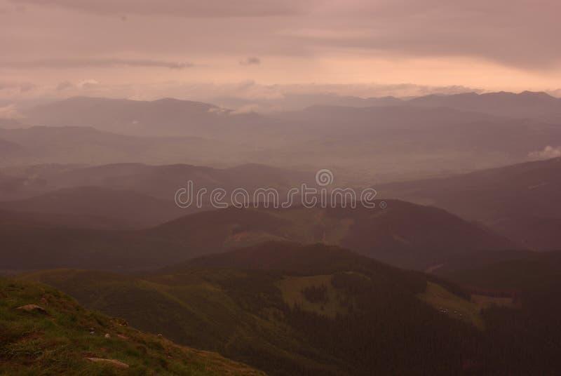 Montanhas mornas fotos de stock royalty free