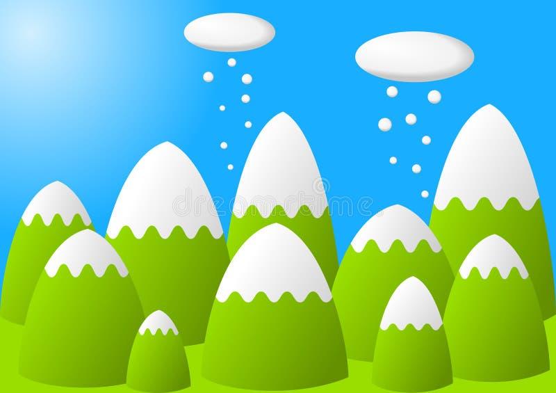 Montanhas nevado ilustração do vetor