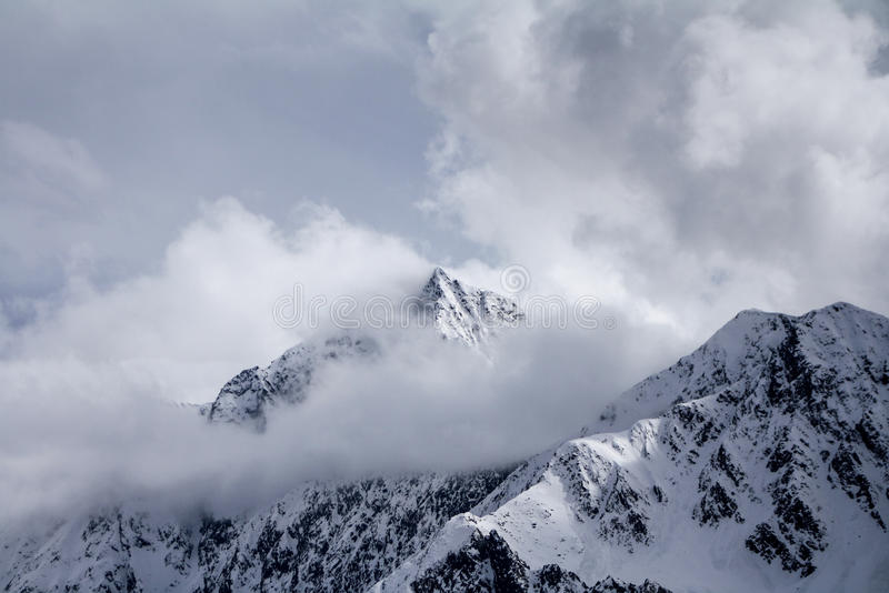 Montanhas nevado 1 fotos de stock