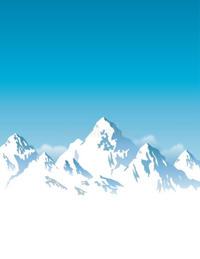 montanhas Neve-tampadas - fundo ilustração royalty free