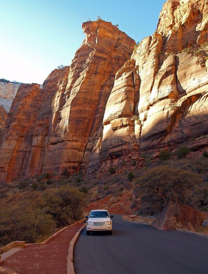 Montanhas no parque nacional de Zion foto de stock