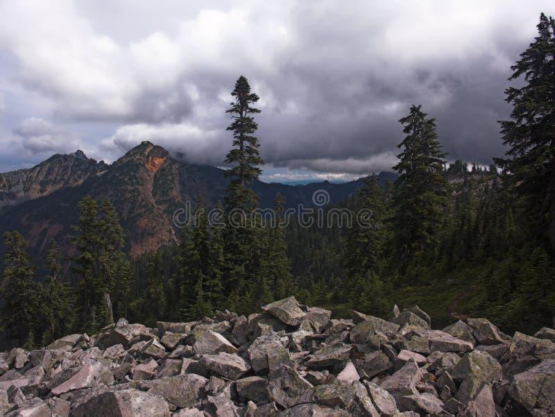Montanhas noroestes pacíficas imagens de stock