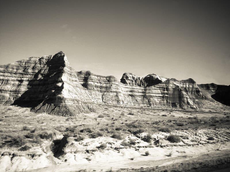 Montanhas nortes de Las Vegas em preto e branco imagem de stock royalty free
