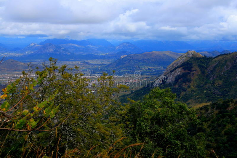 Montanhas orientais de Zimbabwe foto de stock