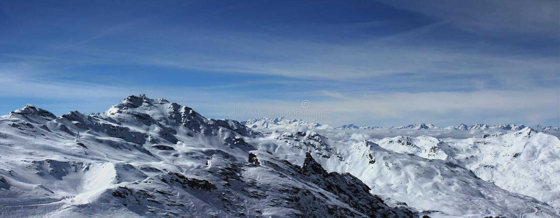 Montanhas (panorama) imagens de stock