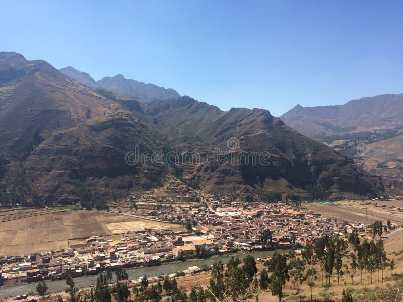 Montanhas peruanas fotografia de stock