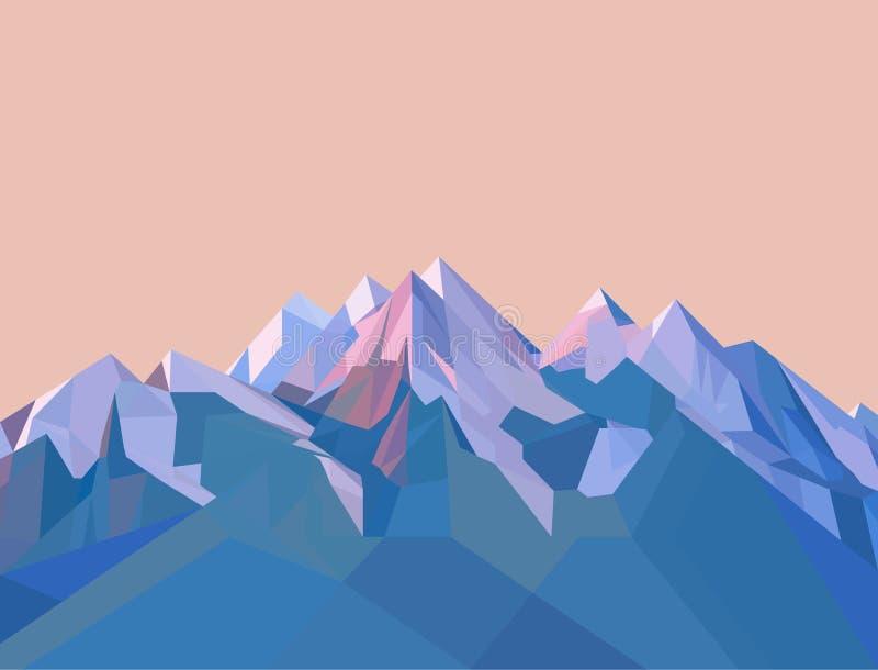 Montanhas poligonais do vetor ilustração stock