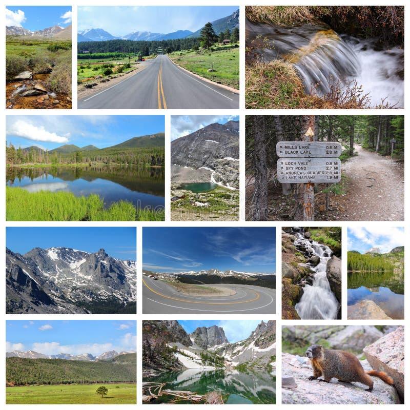Montanhas rochosas fotos de stock