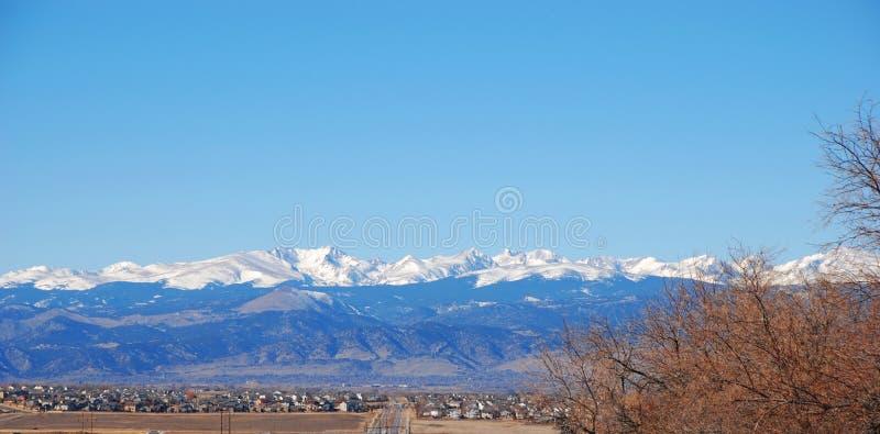 Montanhas rochosas de Colorado foto de stock