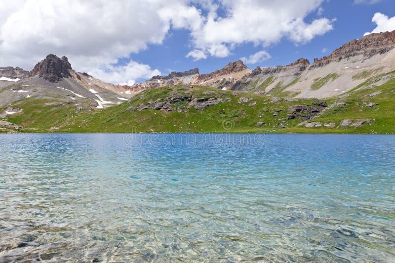 Montanhas rochosas de Colorado do lago ice imagens de stock