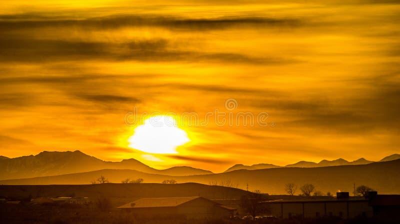 Montanhas rochosas de Colorado do nascer do sol foto de stock royalty free