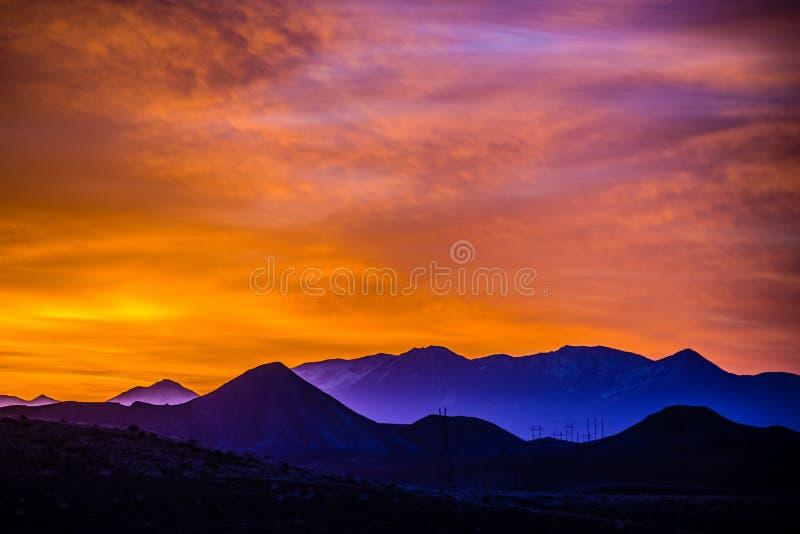 Montanhas rochosas de Colorado do nascer do sol fotografia de stock