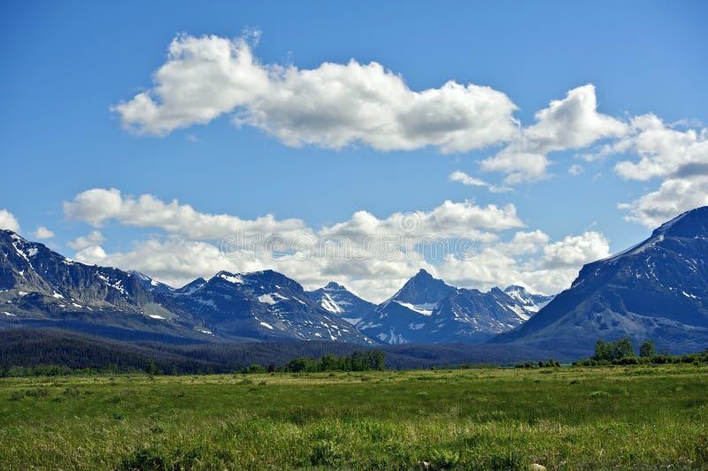 Montanhas rochosas de Montana fotos de stock