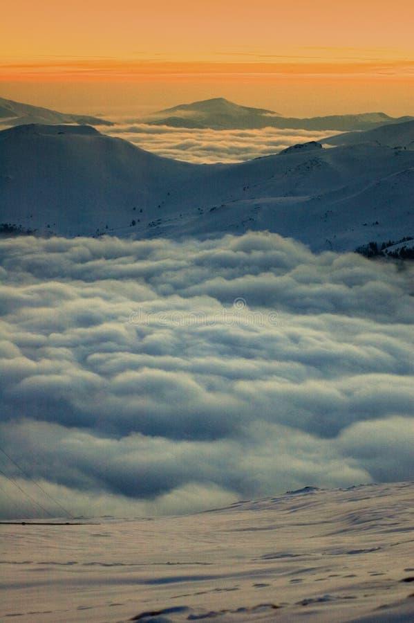 Montanhas romenas imagem de stock