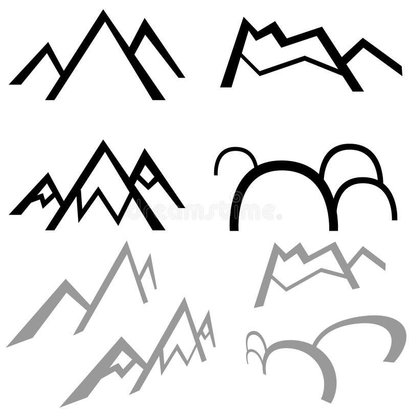 Montanhas simples ilustração do vetor