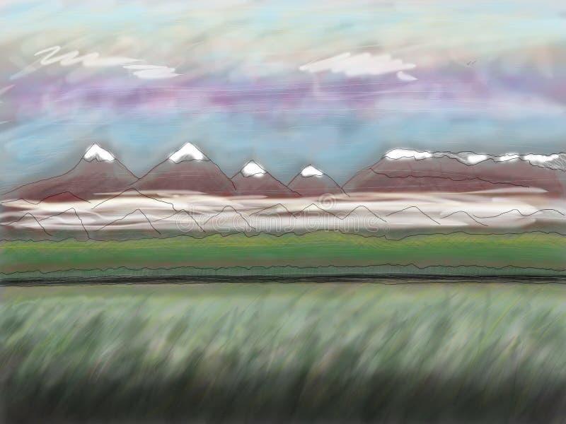 Montanhas sobre a estrada fotos de stock