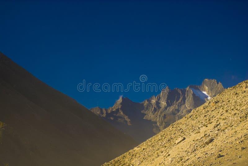 Montanhas tibetanas fotografia de stock