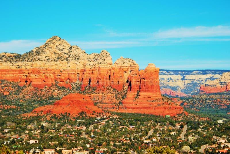 Montanhas vermelhas da rocha de Sedona, o Arizona imagem de stock