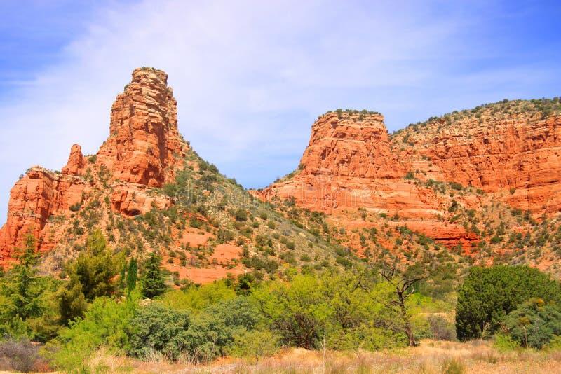 Montanhas vermelhas da rocha em Sedona fotos de stock