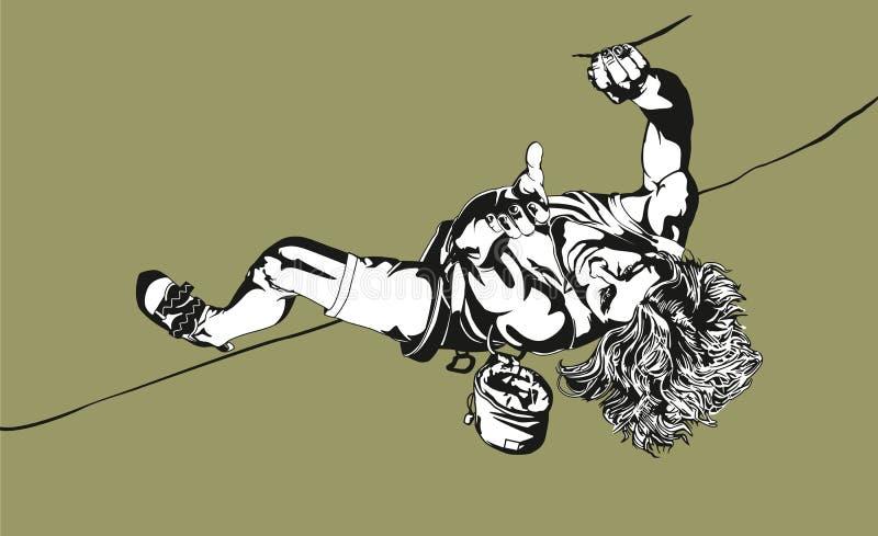 Montanhista ilustração stock