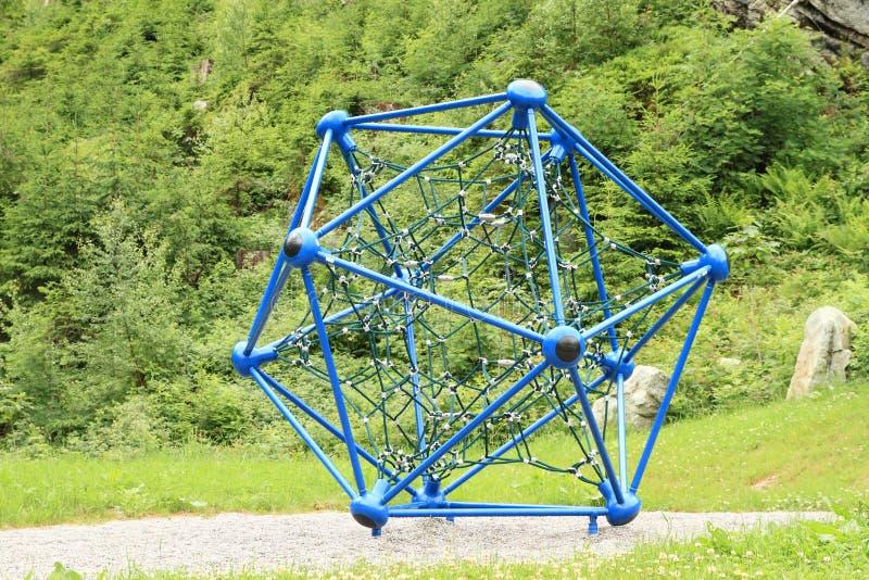 Montanhista como o átomo ou a molécula foto de stock