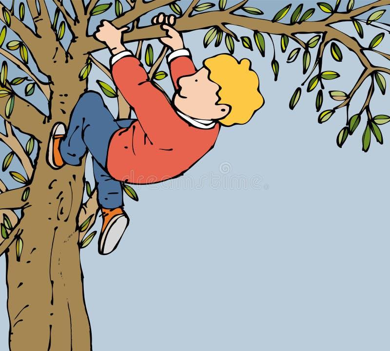 Montanhista da árvore ilustração royalty free