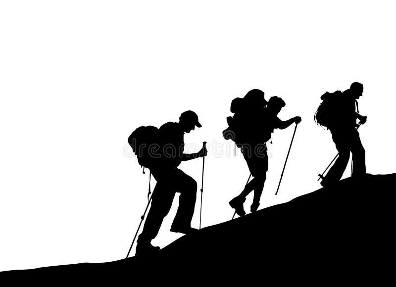 Montanhista de montanha ilustração royalty free
