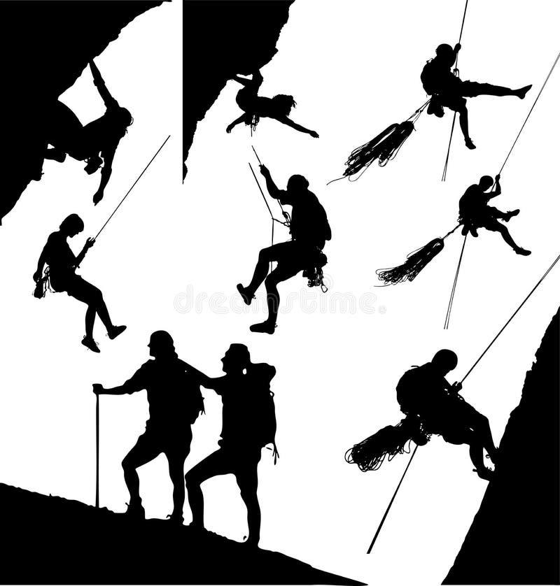 Montanhistas da montanha ilustração royalty free