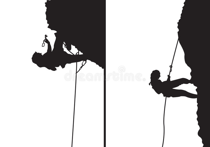 Montanhistas da rocha ilustração do vetor
