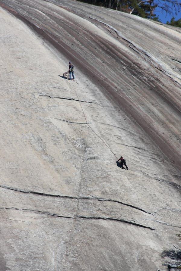Montanhistas de pedra do parque estadual da montanha fotos de stock royalty free
