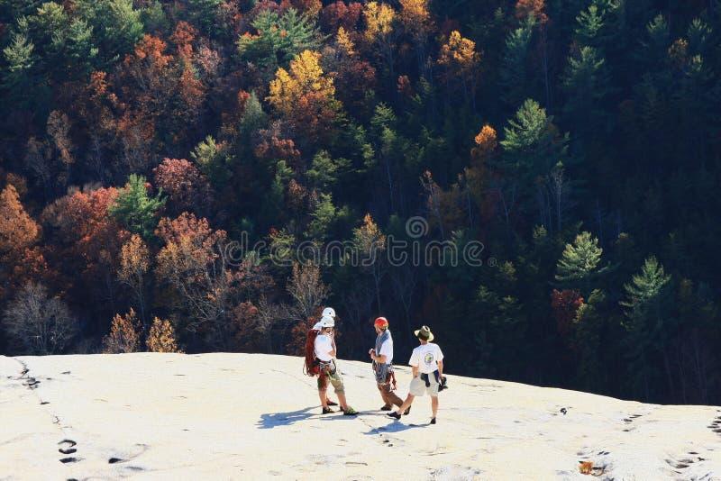 Montanhistas de pedra do parque estadual da montanha foto de stock royalty free