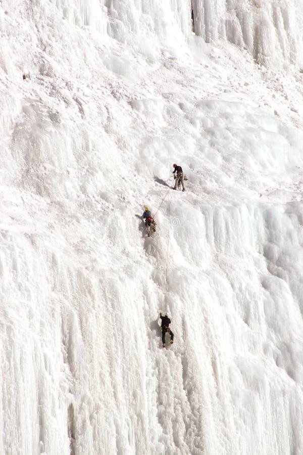 Montanhistas do gelo. imagens de stock royalty free