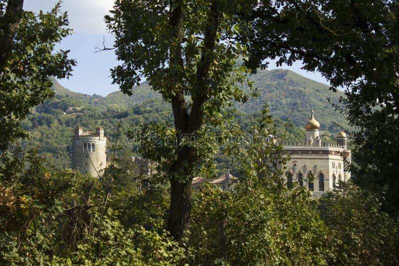 Montano di panorama dell'Unione Sovietica di antico di Castello fotografia stock