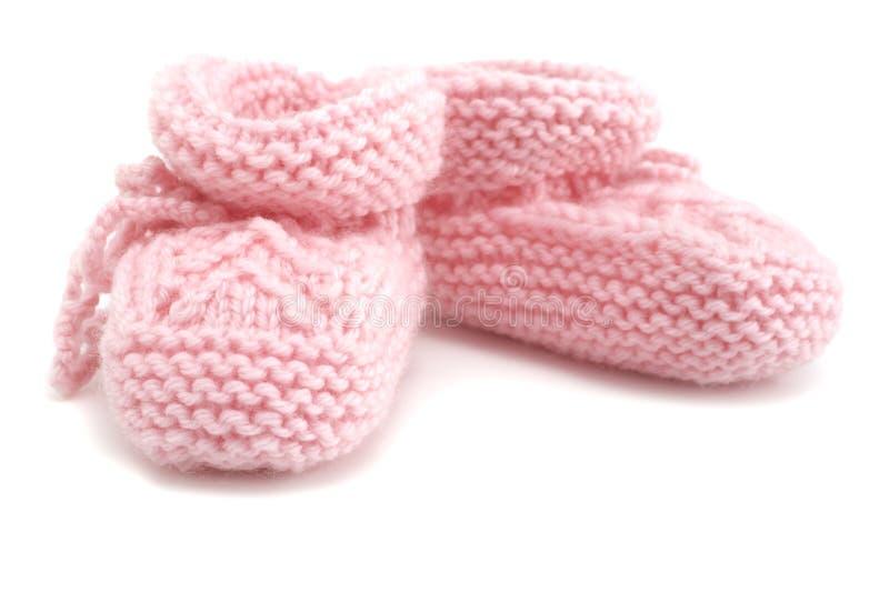 Montantes cor-de-rosa do bebê foto de stock