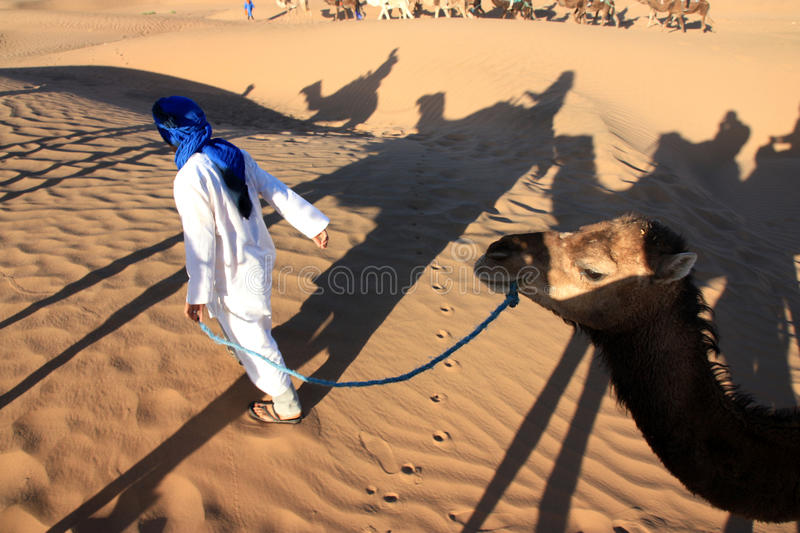 Montar a caballo del camello imagen de archivo