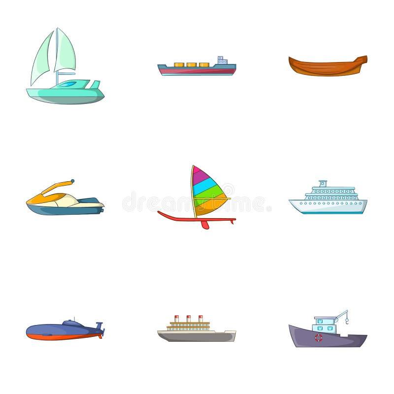 Download Montar Em ícones Do Mar Ajustou-se, Estilo Dos Desenhos Animados Ilustração do Vetor - Ilustração de regatta, velocidade: 80101587