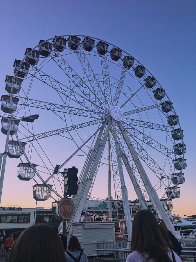 Montar roda dentro França foto de stock