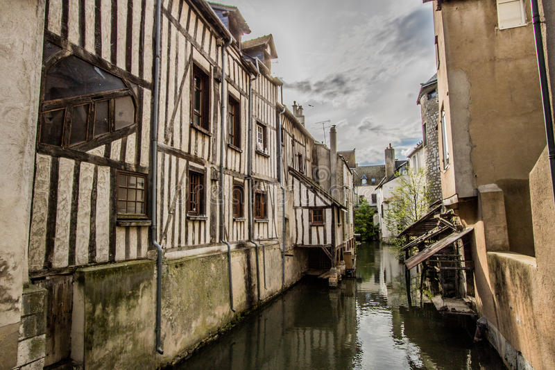 Montargis, Frankrijk stock afbeeldingen