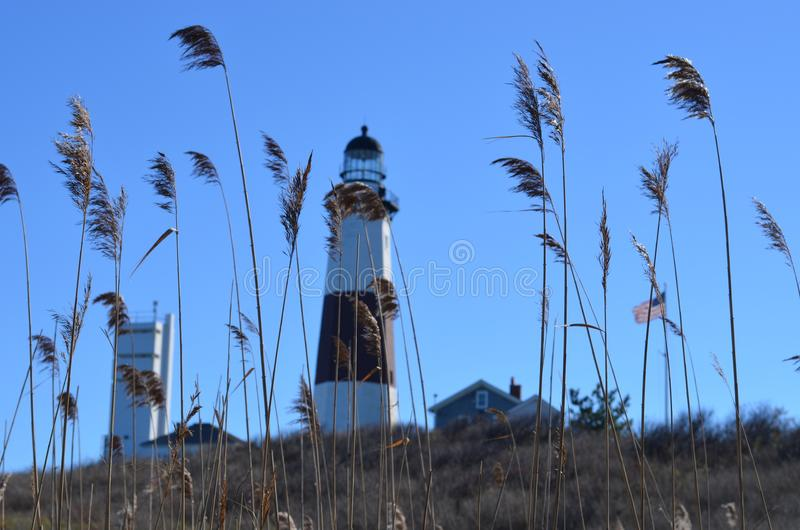Montauk, NY lighthouse during the summer royalty free stock images