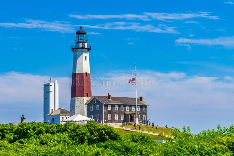 Montauk-Punkt-Leuchtturm Long Island New York lizenzfreie stockfotos