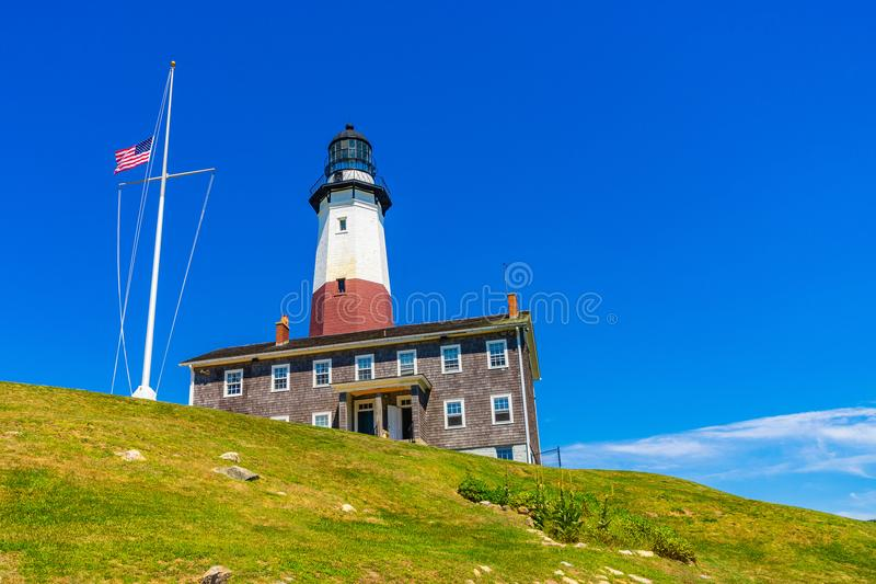 Montauk-Punkt-Leuchtturm Long Island New York lizenzfreies stockfoto