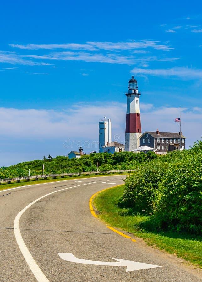 Montauk-Punkt-Leuchtturm Long Island New York stockfotos