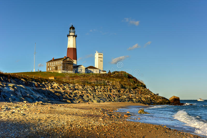 Montauk-Punkt-Leuchtturm - New York lizenzfreie stockfotos