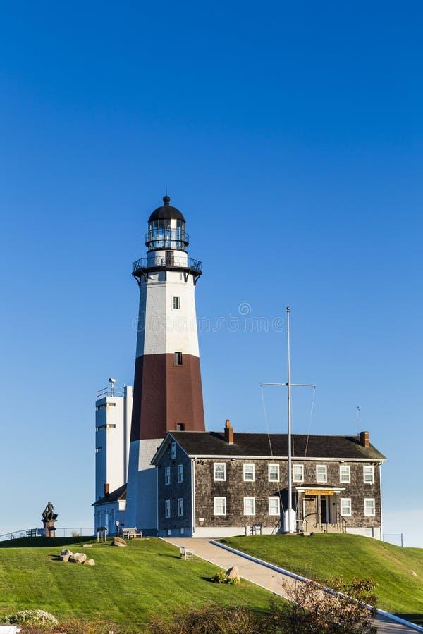 Montauk-Punkt-Licht, Leuchtturm, Long Island, New York, Suffolk lizenzfreies stockbild