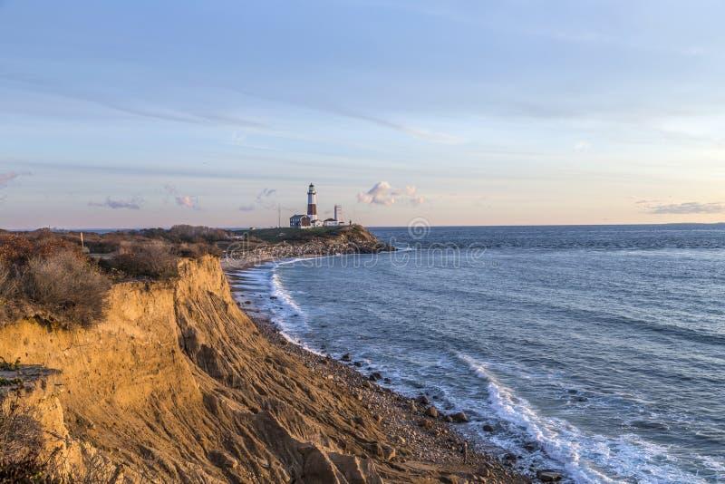 Montauk punktu światło, latarnia morska, Long Island, Nowy Jork, Suffolk zdjęcia stock