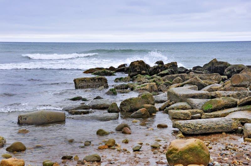Montauk Rocky Beach New York lizenzfreie stockfotografie